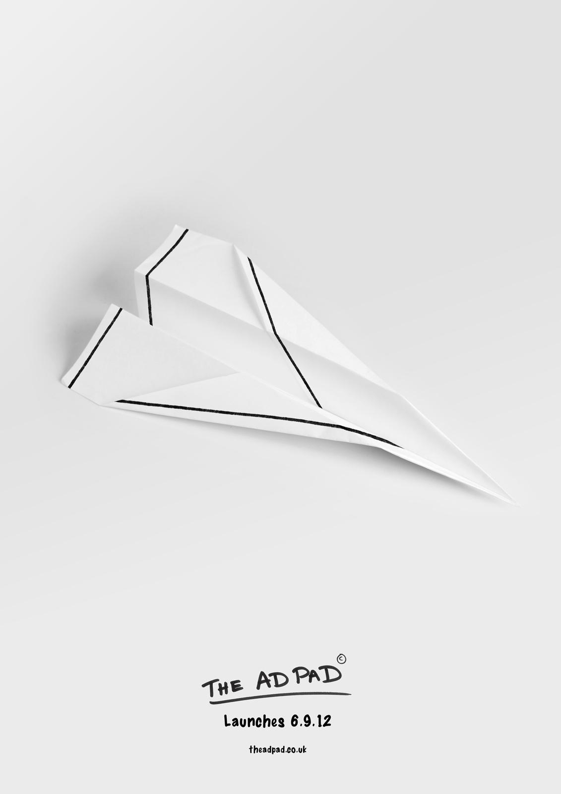 The Ad Pad Print Ad -  Plane