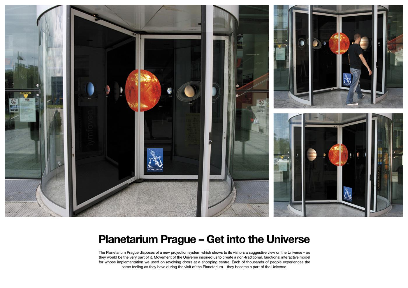 Planetarium Prague Ambient Ad -  Get into the Universe