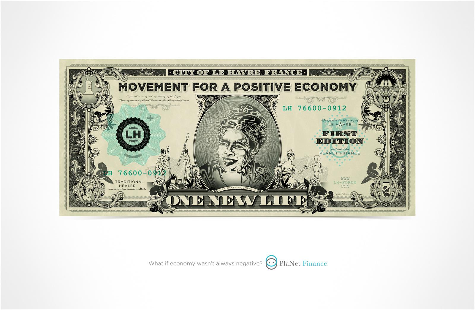 PlaNet Finance Print Ad -  Positive Economy