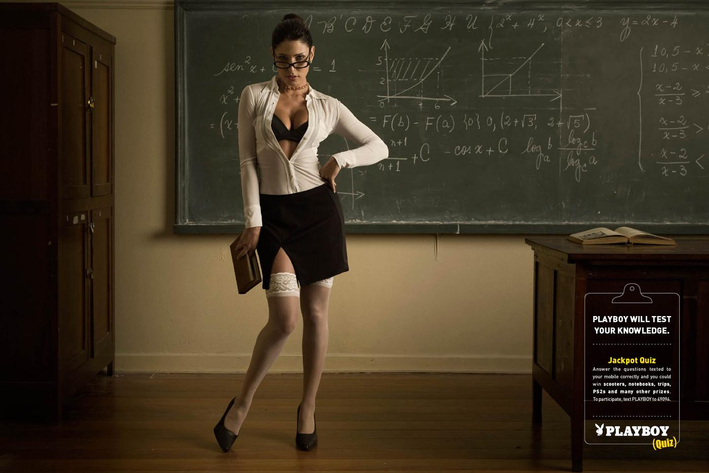 Playboy Print Ad -  Hot teacher, 1