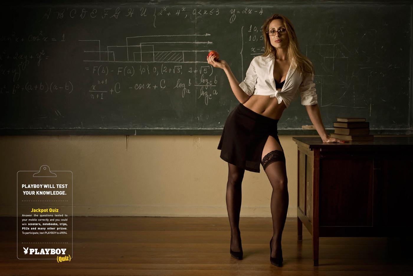 Playboy Print Ad -  Hot teacher, 2