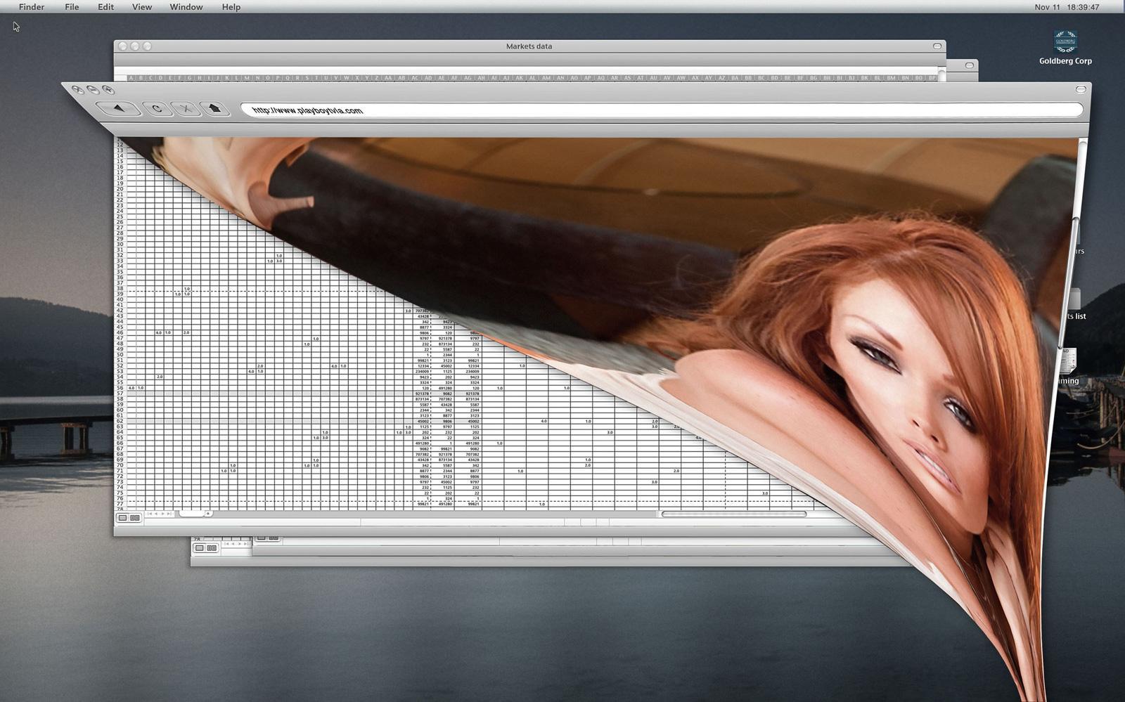 Playboy Print Ad -  Office