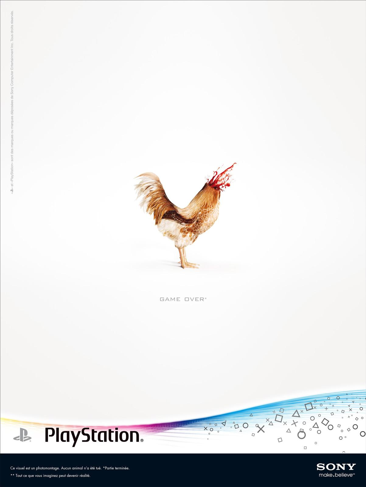PlayStation Print Ad -  Coq