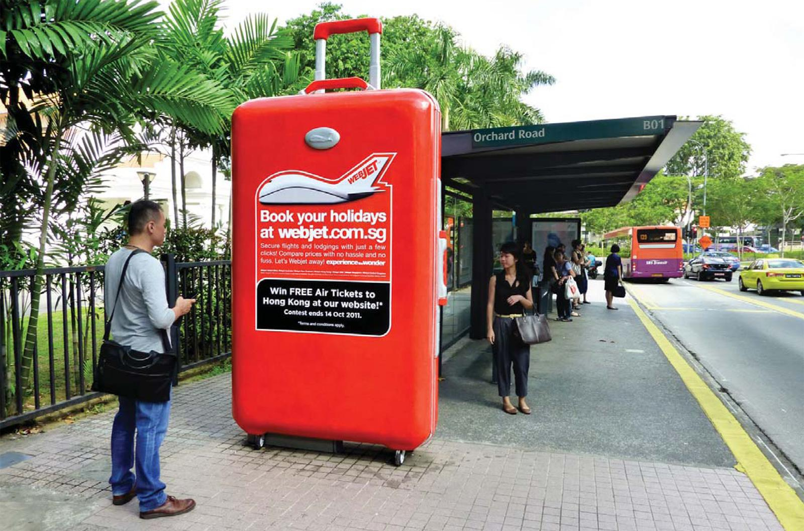 Webjet Outdoor Ad -  Supersized 3D Luggage
