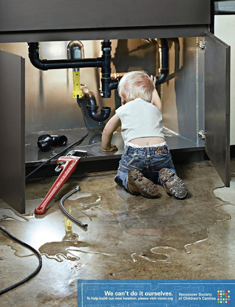 Vancouver Society of Children's Centres Print Ad -  Plumber