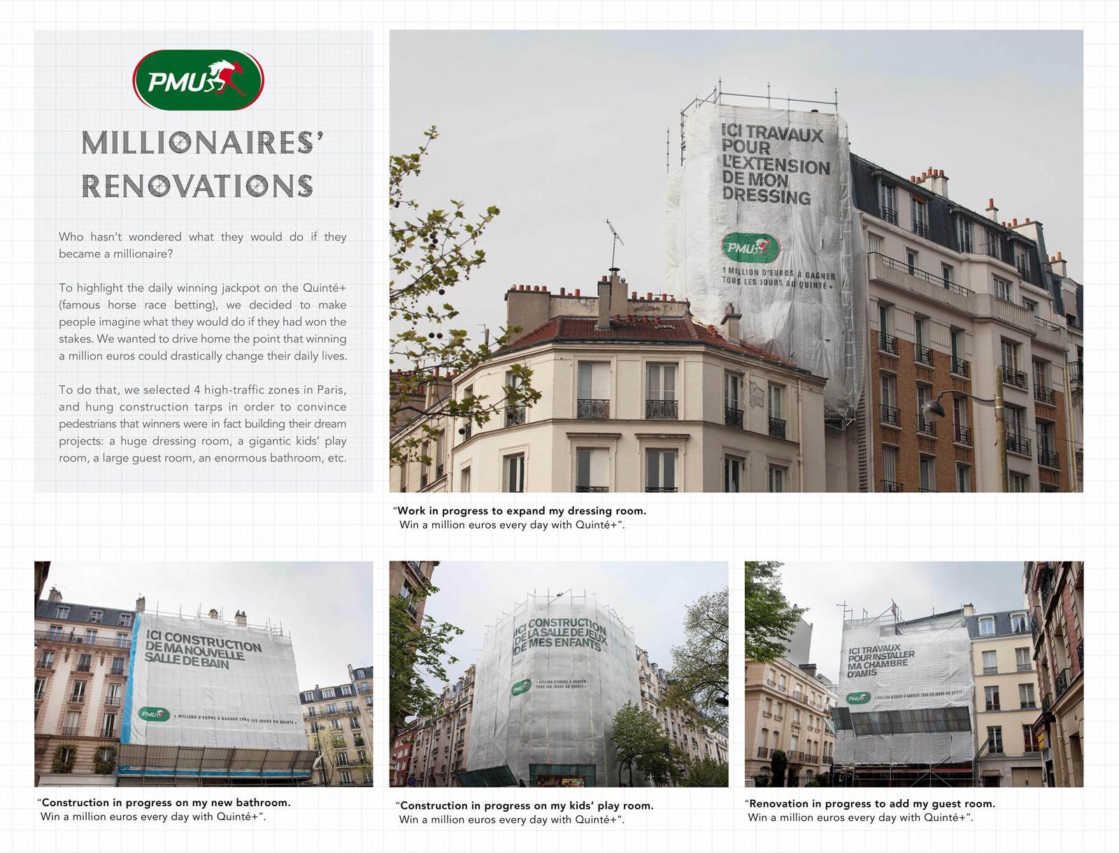 PMU Outdoor Ad -  Millionnaires' Renovations