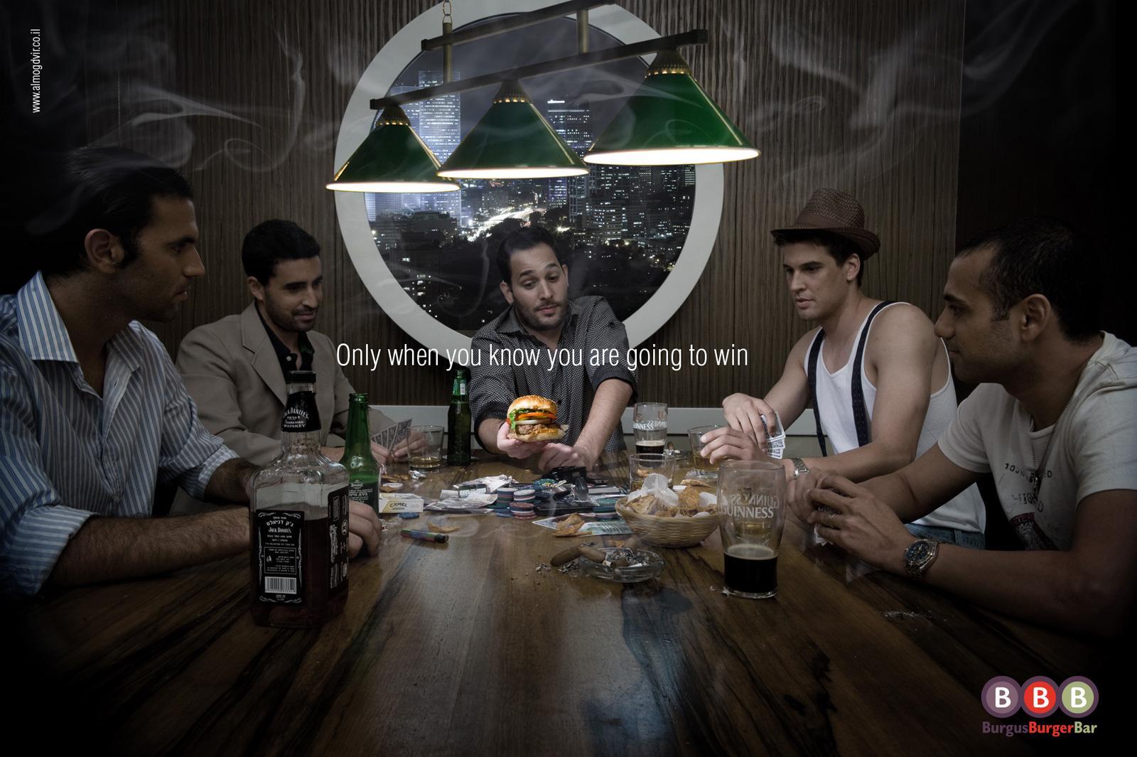 Burgus Burger Bar Print Ad -  Poker