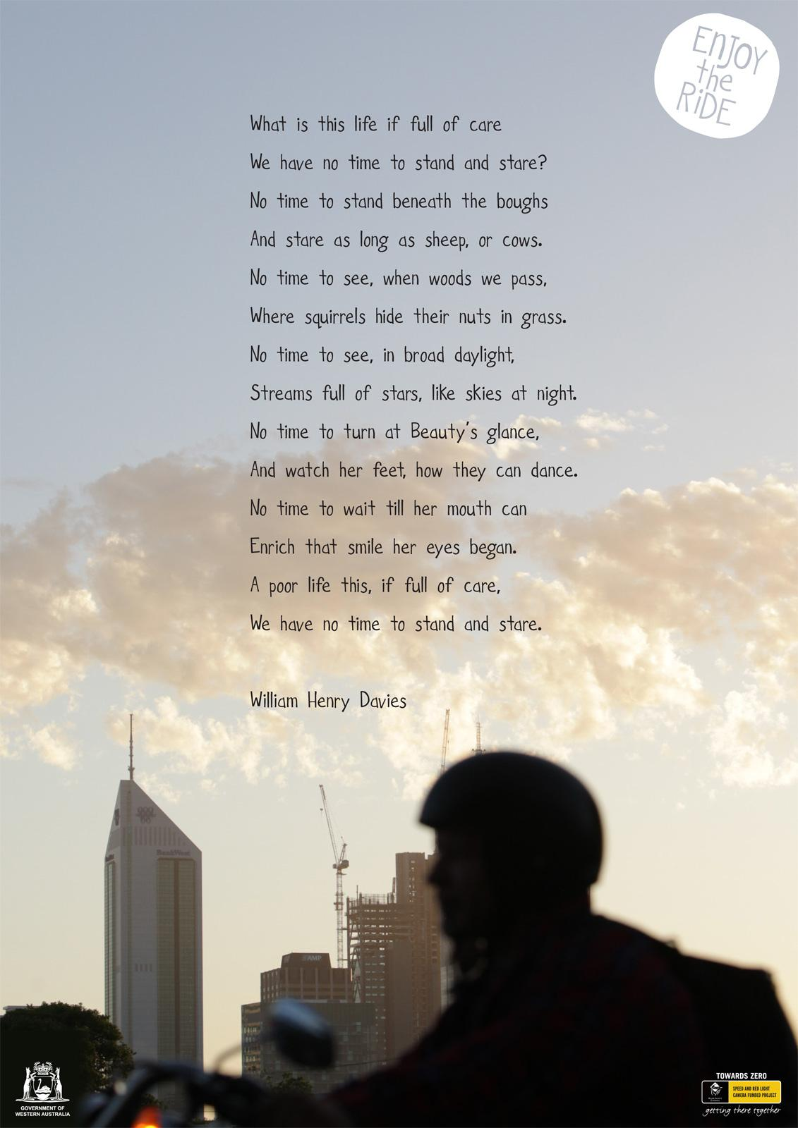Western Australian Office of Road Safety Print Ad -  Enjoy The Ride, Poem