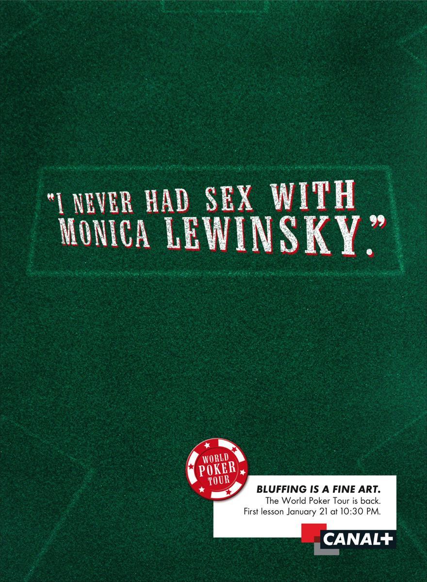 Bluff, Lewinsky
