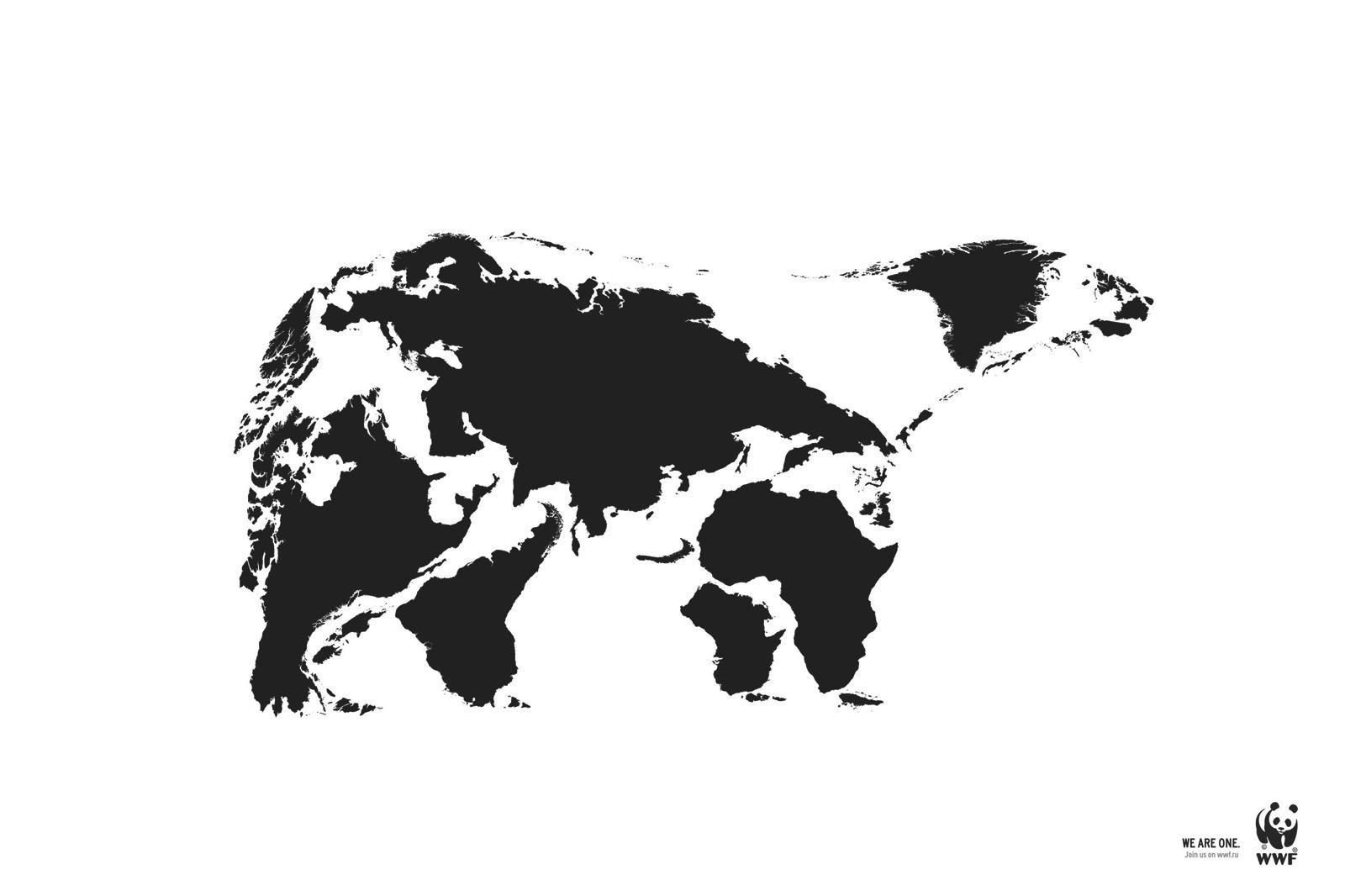 WWF Print Ad -  We Are One, Polar Bear