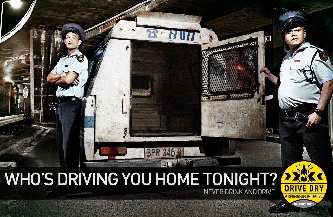 Brandhouse Drive Dry Print Ad -  Police van