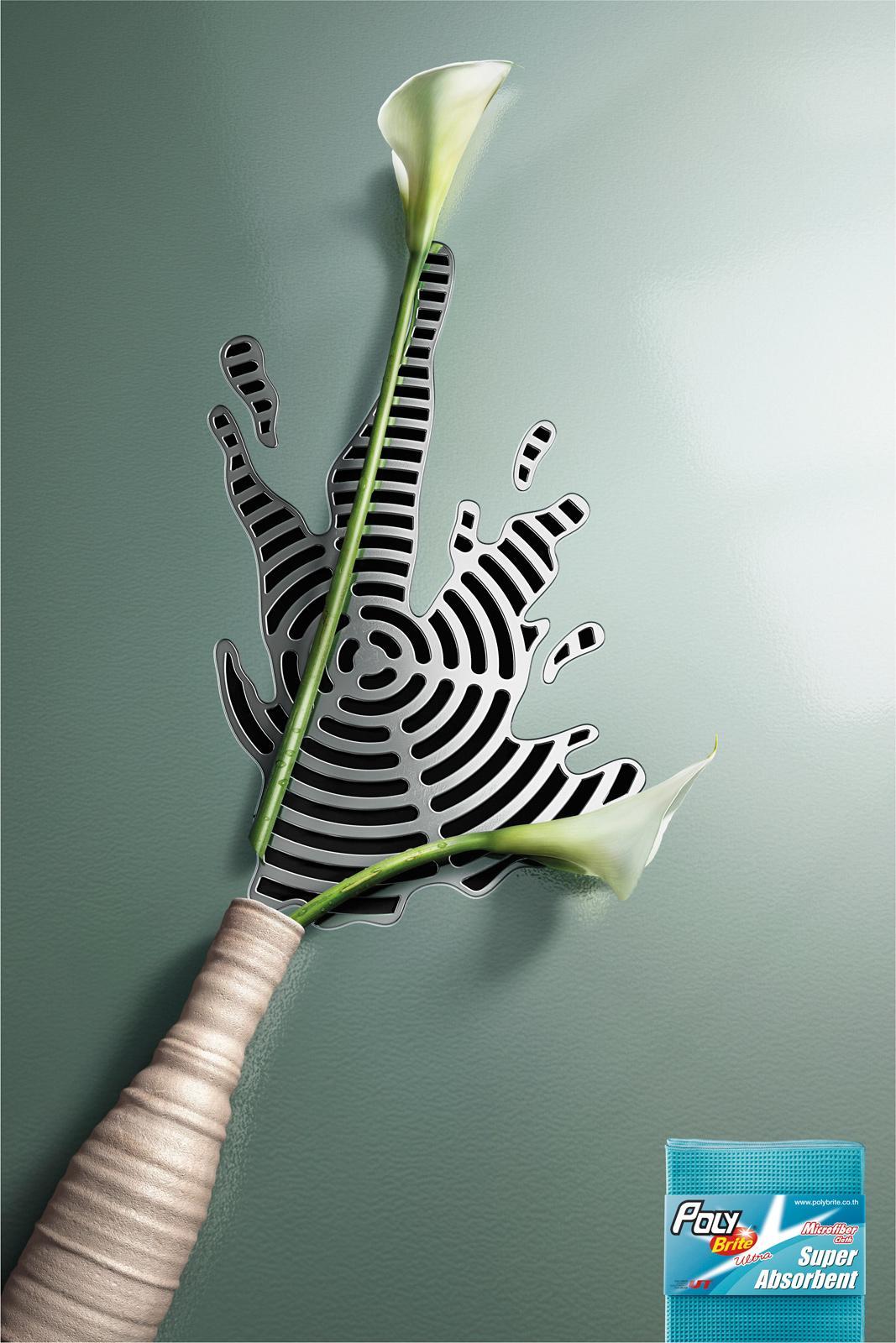 Poly-Brite Print Ad -  Vase