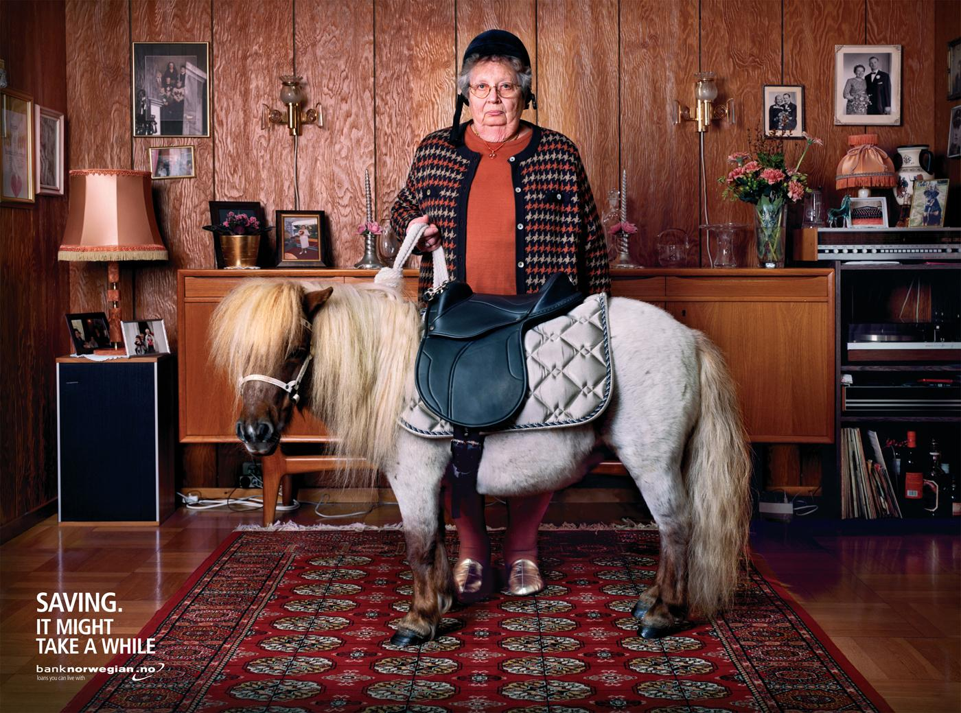 Bank Norwegian Print Ad -  Pony