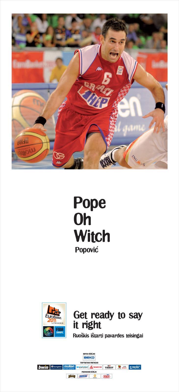 Eurobasket Outdoor Ad -  Popovic