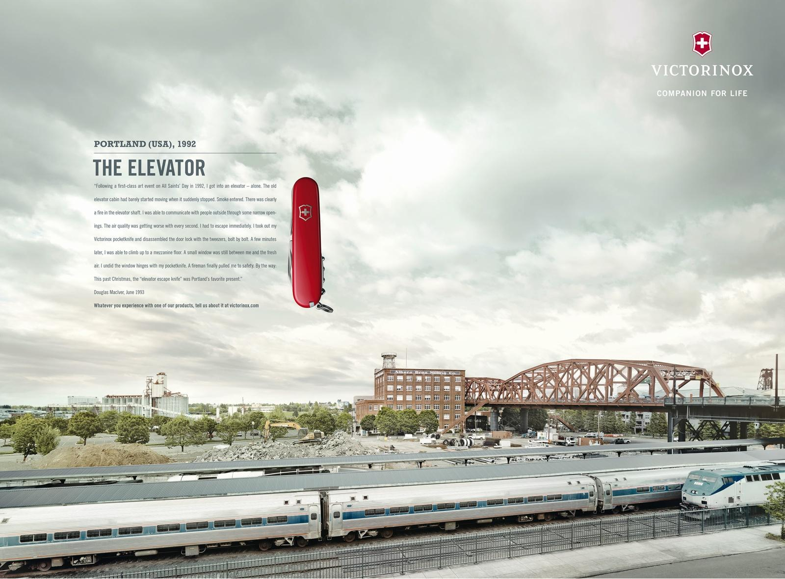 Victorinox Print Ad -  Fan Letters, Portland