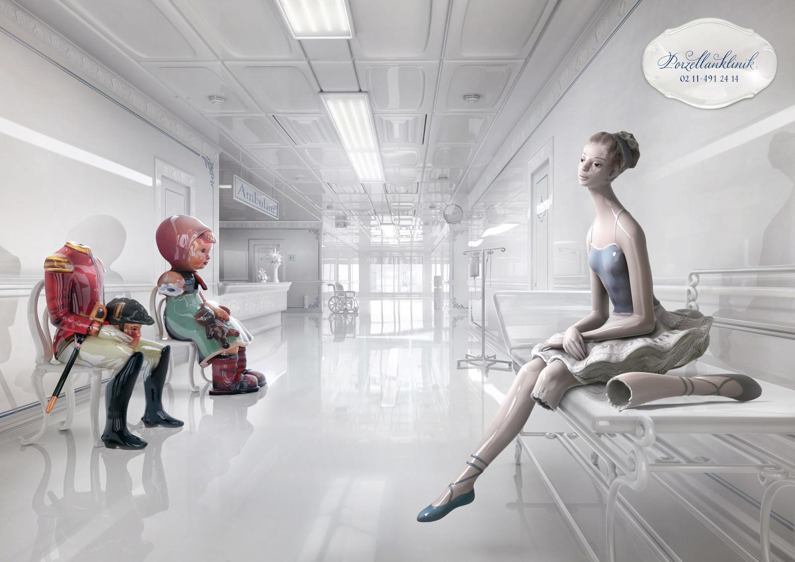 Porzellanklinik Print Ad -  Porcelain Clinic