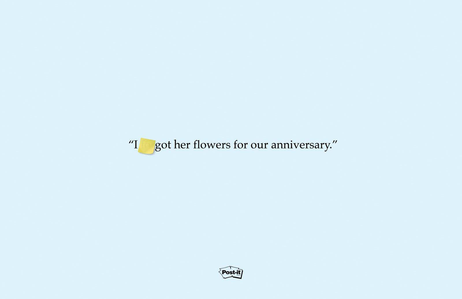 Post-it Brand Print Ad -  Flowers