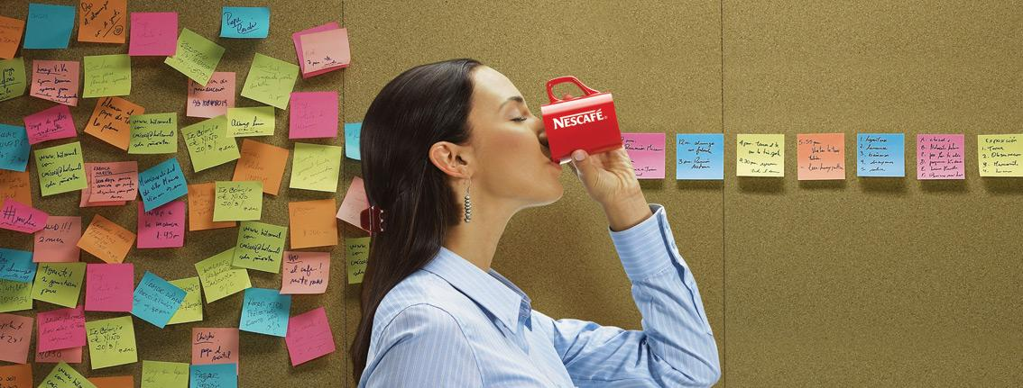 Nescafe Print Ad -  Post It
