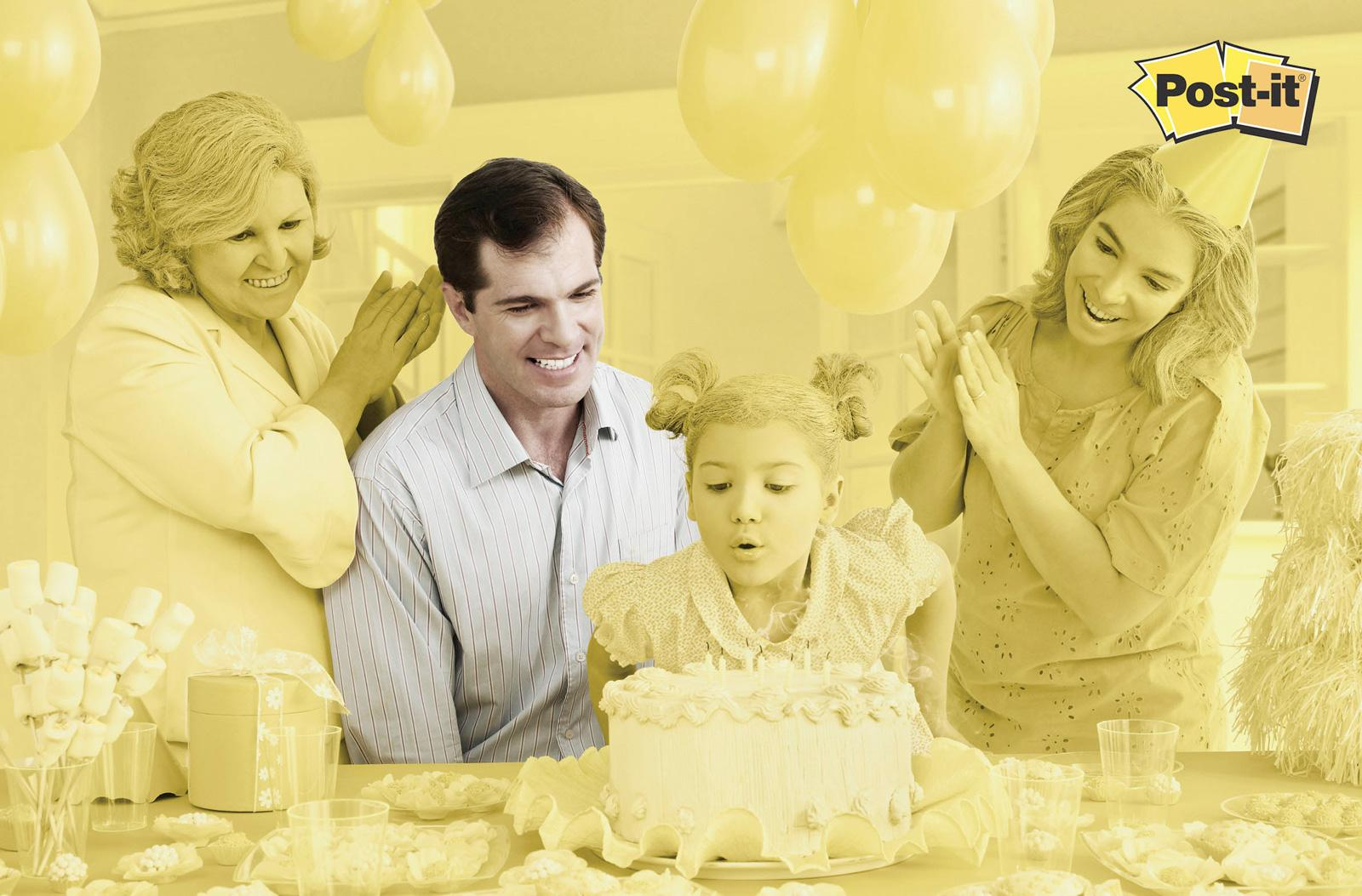 Post-it Brand Print Ad -  Yellow, Birthday