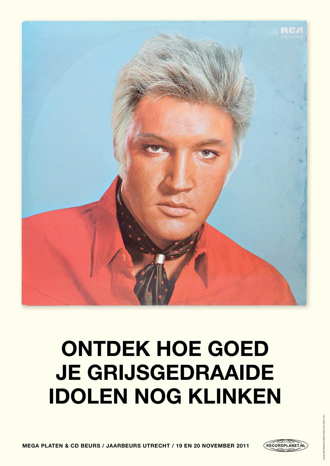 Recordplanet.nl Print Ad -  Elvis