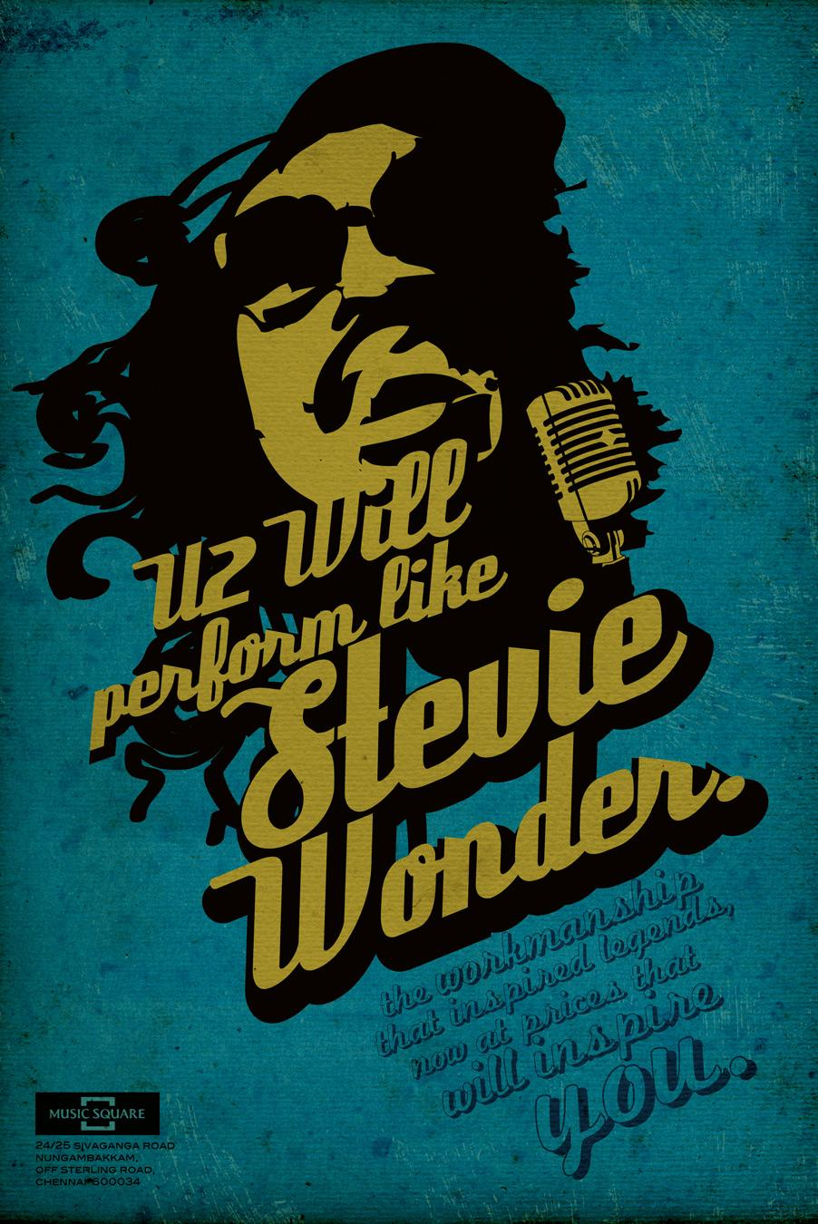 Music Square Print Ad -  Stevie Wonder