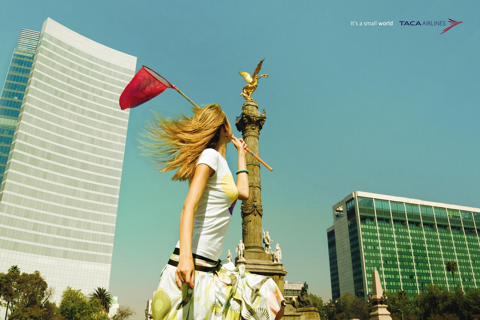 TACA Airlines Print Ad -  Small Mexico