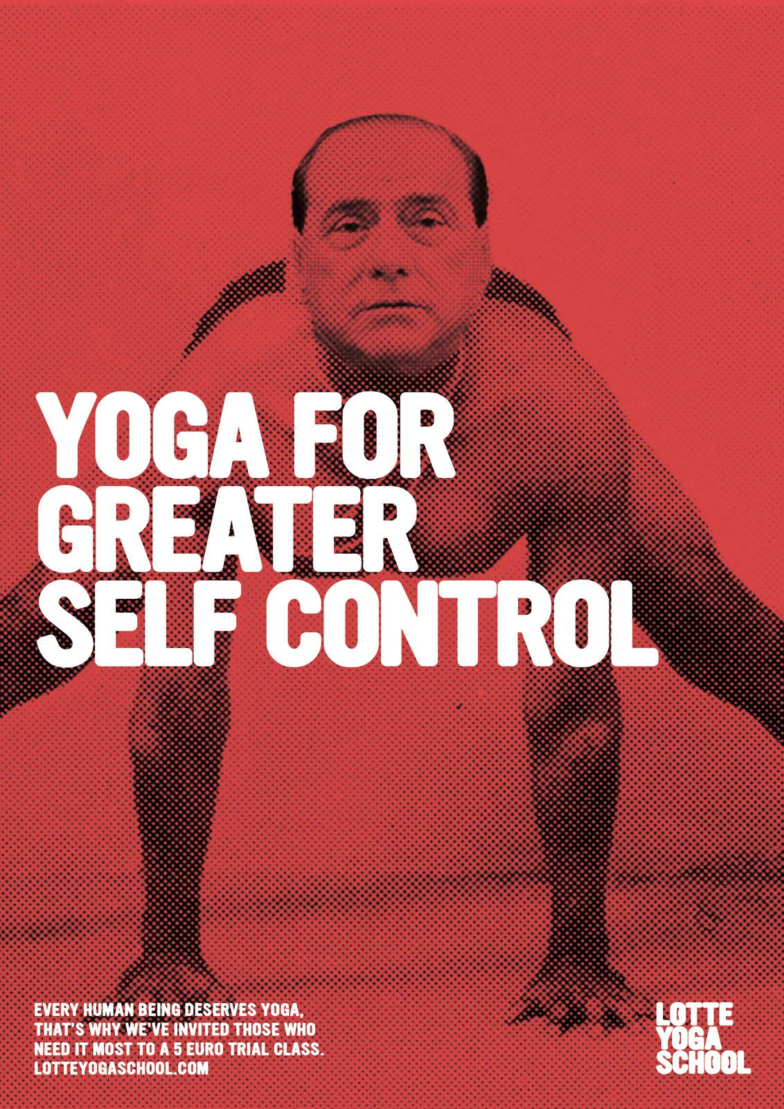 Lotte Yoga School Print Ad -  Hu Jintao
