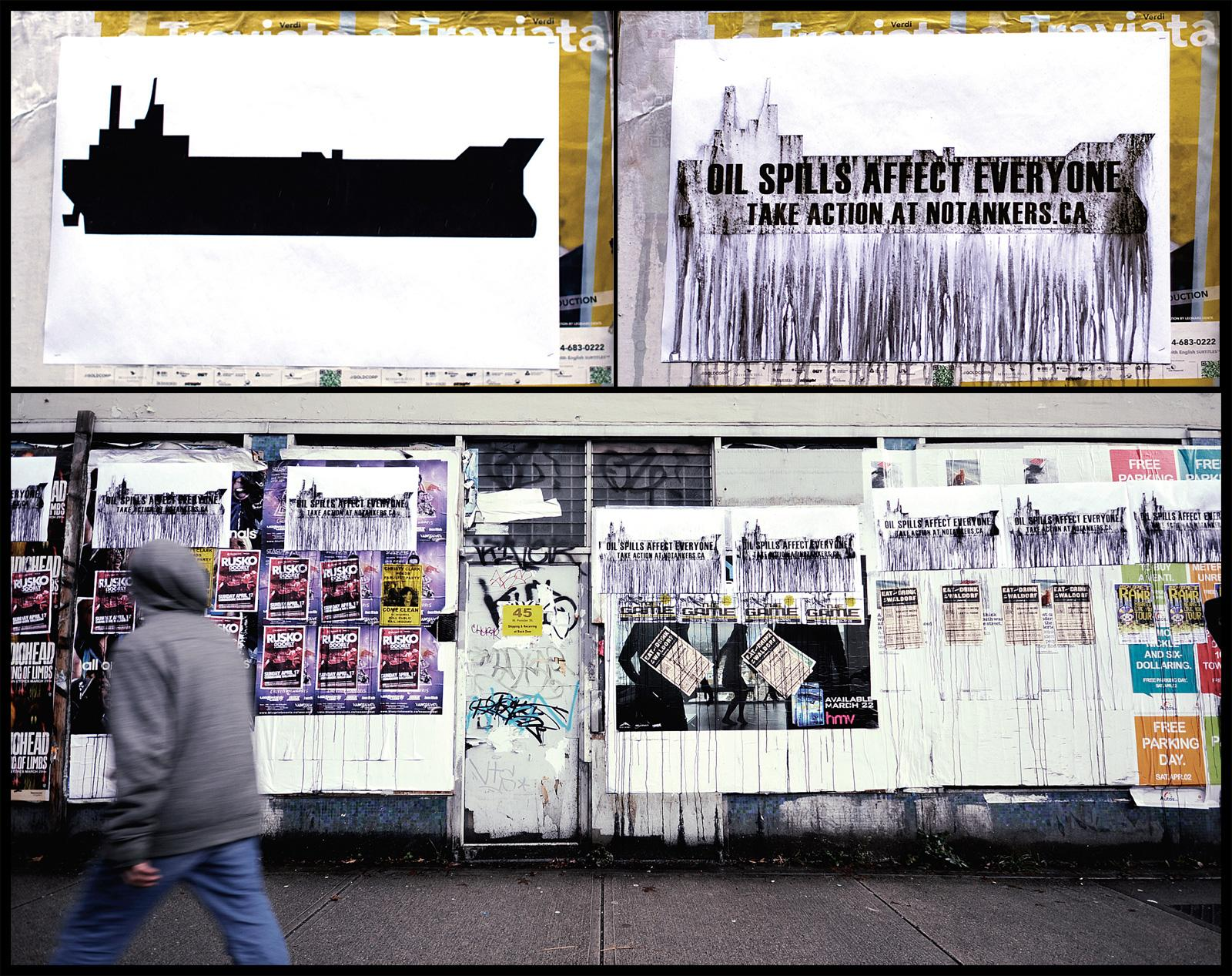 Oil Spill Awareness Outdoor Ad -  No Tankers