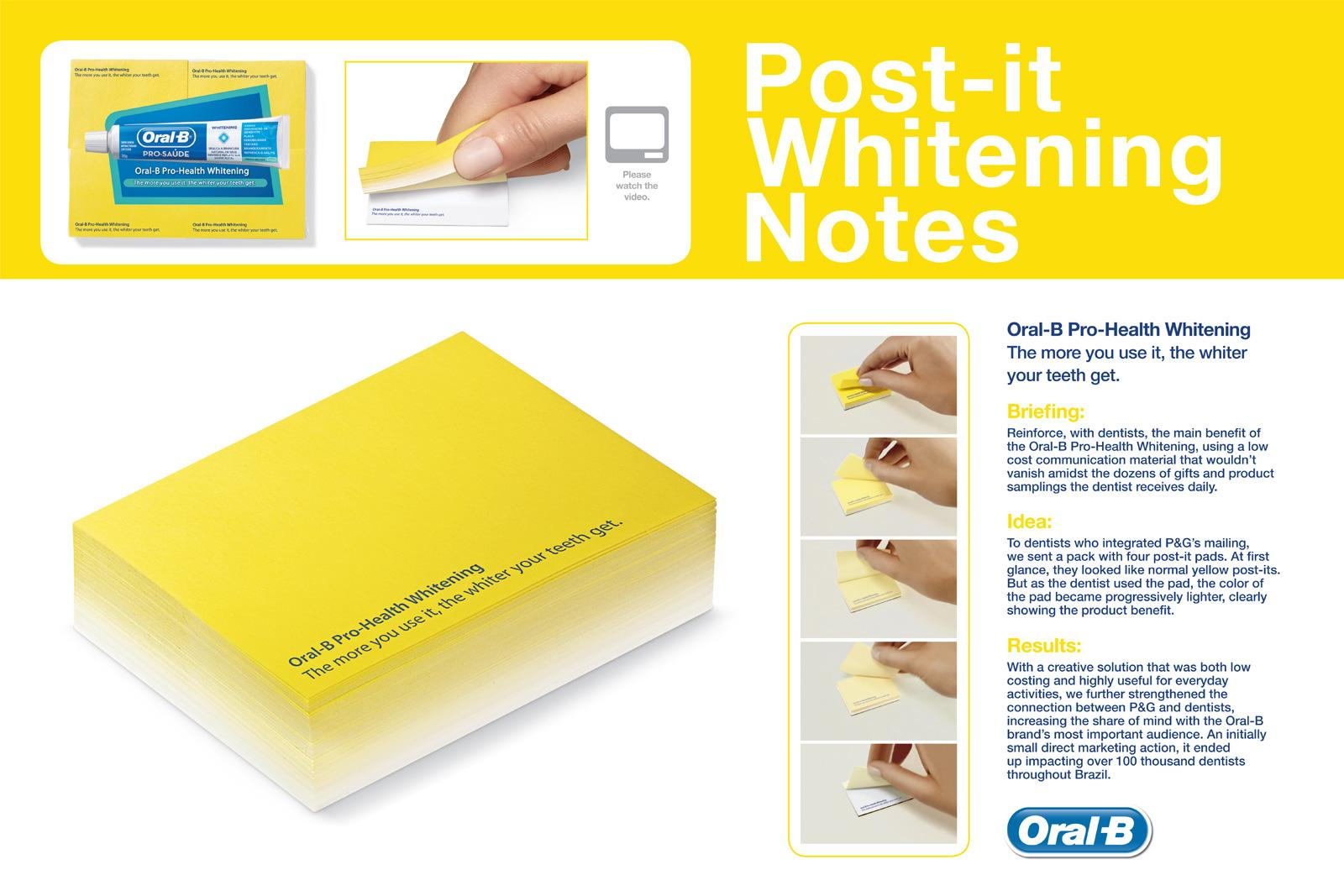 Oral-B Direct Ad -  Whitening Post-It Notes