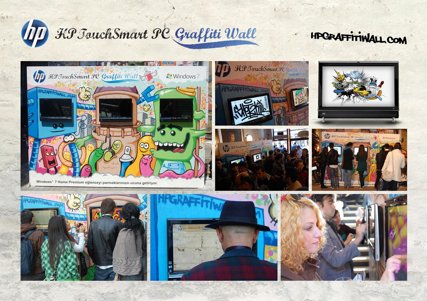HP Print Ad -  Touchsmart Graffiti Wall