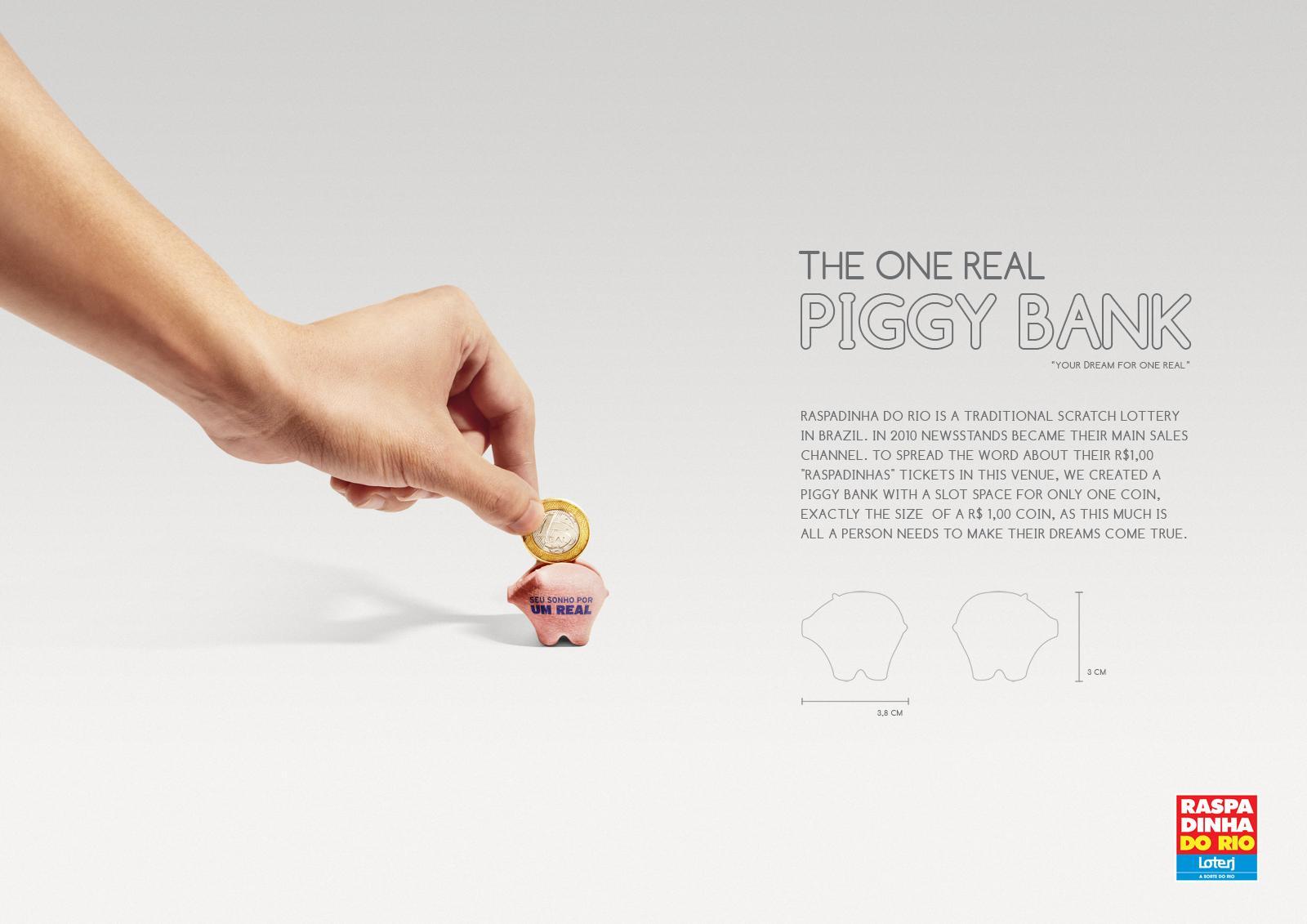 Raspadinha Do Rio Direct Ad -  The One Real Piggy Bank