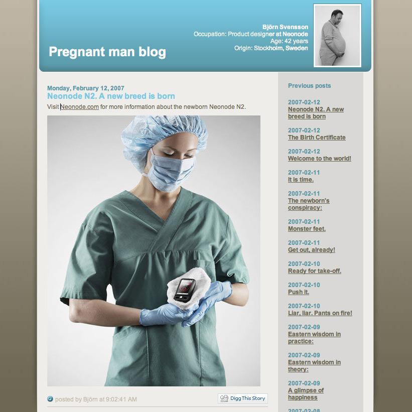 Pregnant Man Blog
