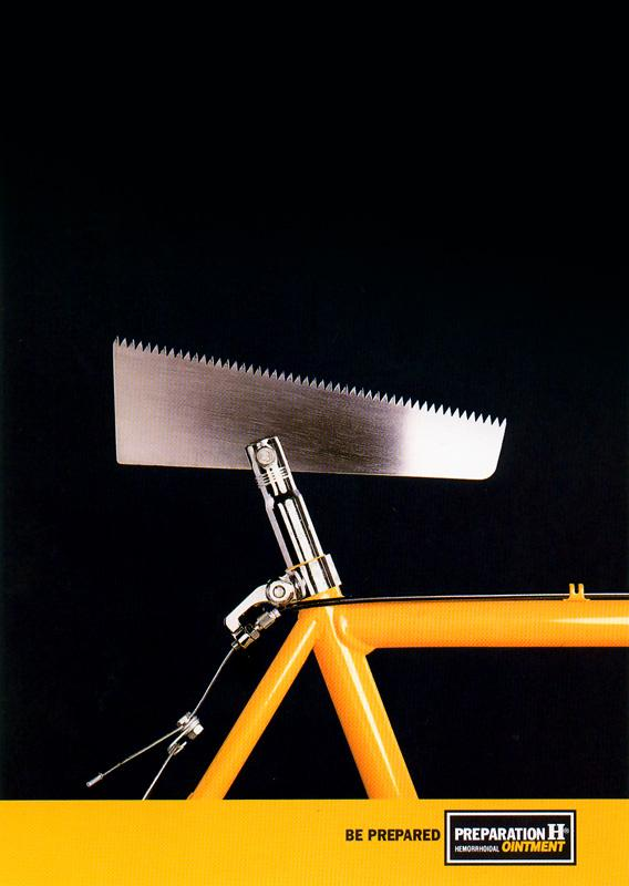 Preparation H Print Ad -  Bike