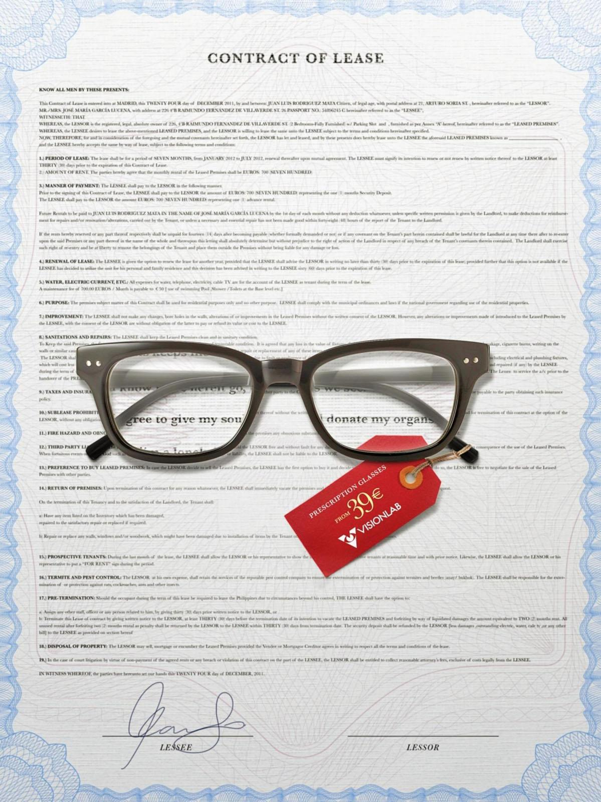 Visionlab Print Ad -  Lease Contract