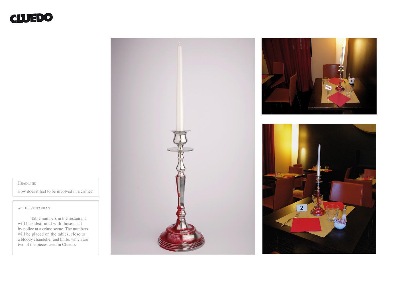Cluedo Print Ad -  Candle holder