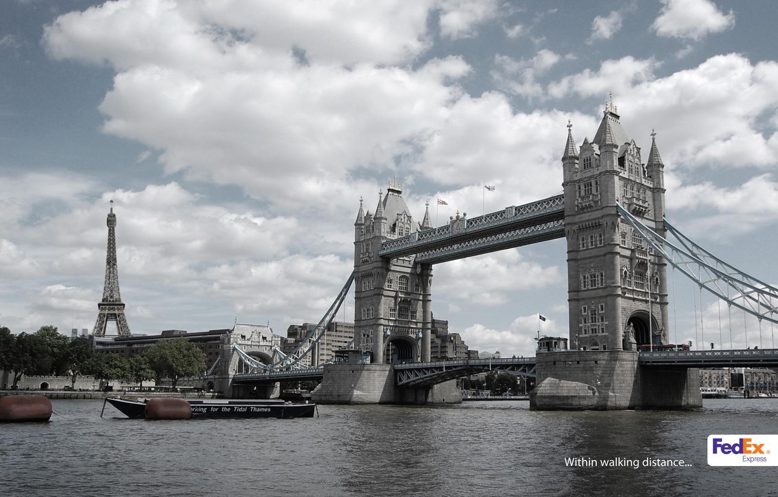 FedEx Print Ad -  London & Paris