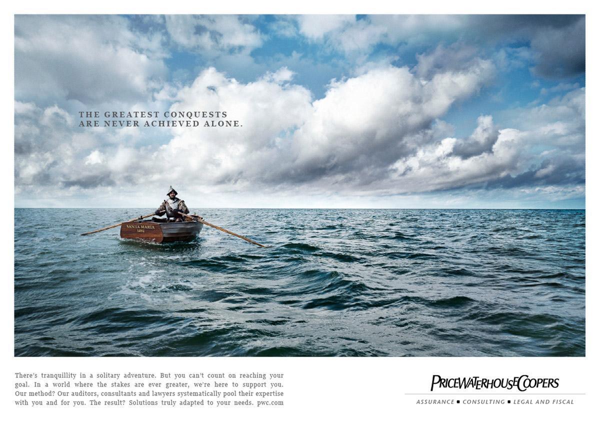 PriceWaterHouseCoopers Print Ad -  Boat