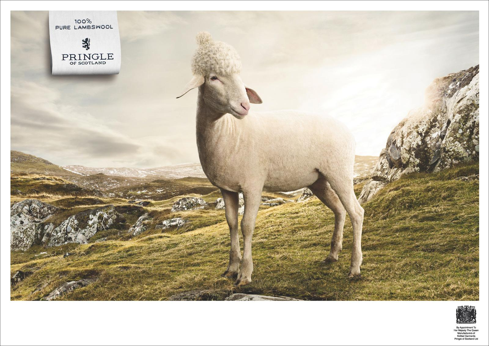 Pringle of Scotland Print Ad -  Mountain