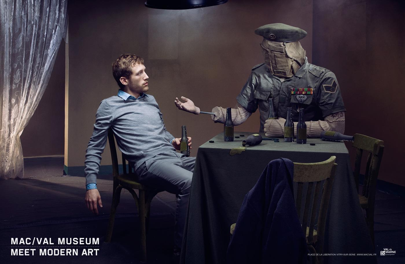 Val-de-Marne Museum Print Ad -  The encounter
