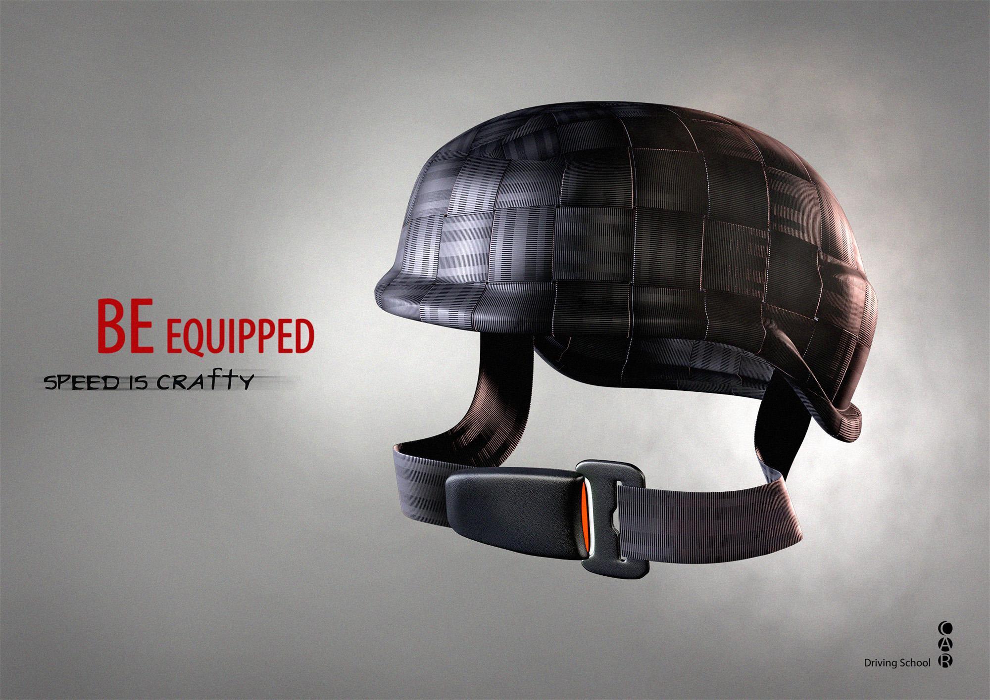 CAR Driving School Print Ad -  Helmet