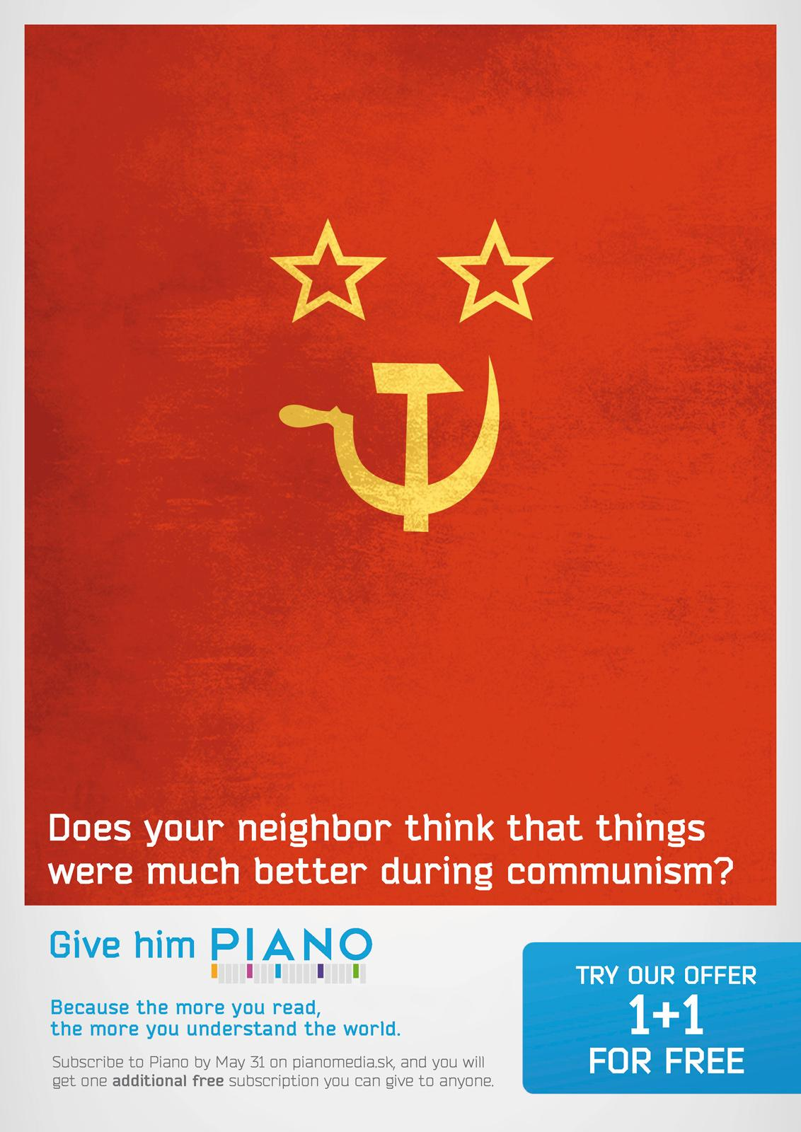 Piano Media Print Ad -  Communism