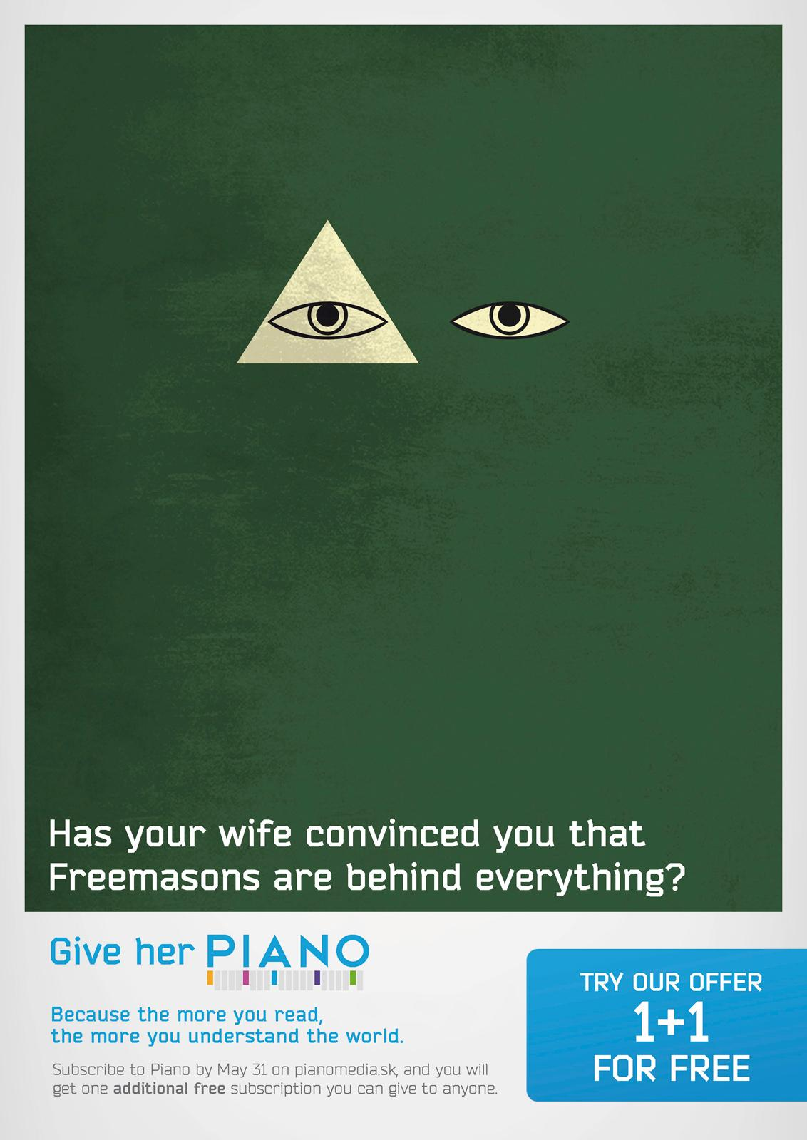 Piano Media Print Ad -  Freemasons