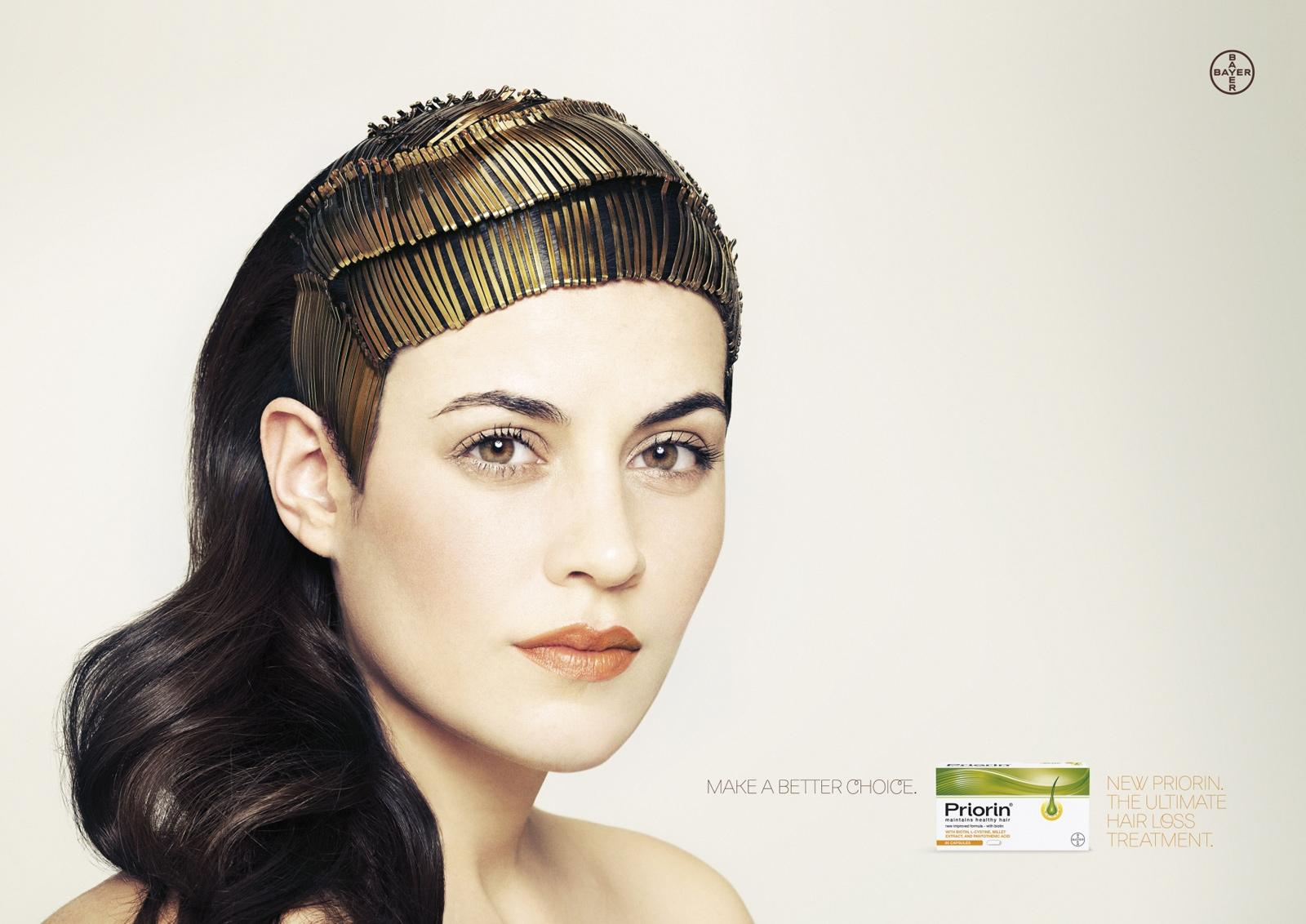 Priorin Print Ad -  Hair Pins