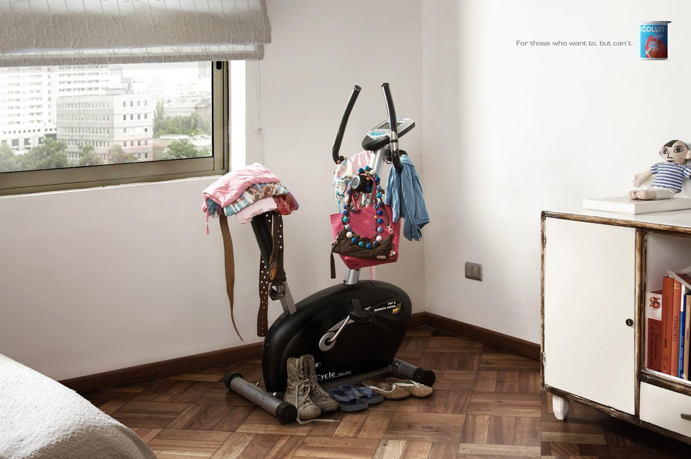 Colun Print Ad -  Exercise bike