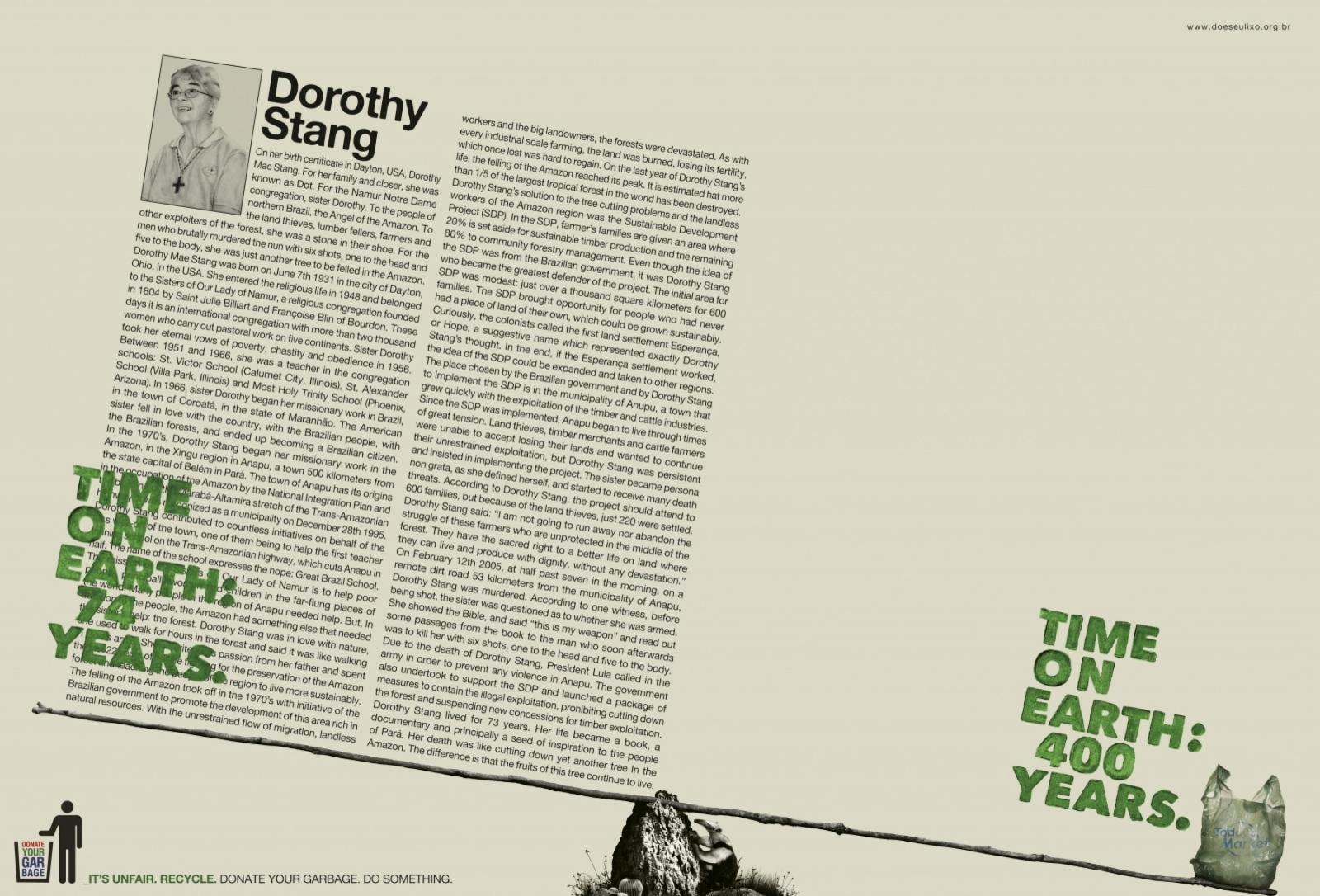 Donate your Garbage Print Ad -  Dorothy