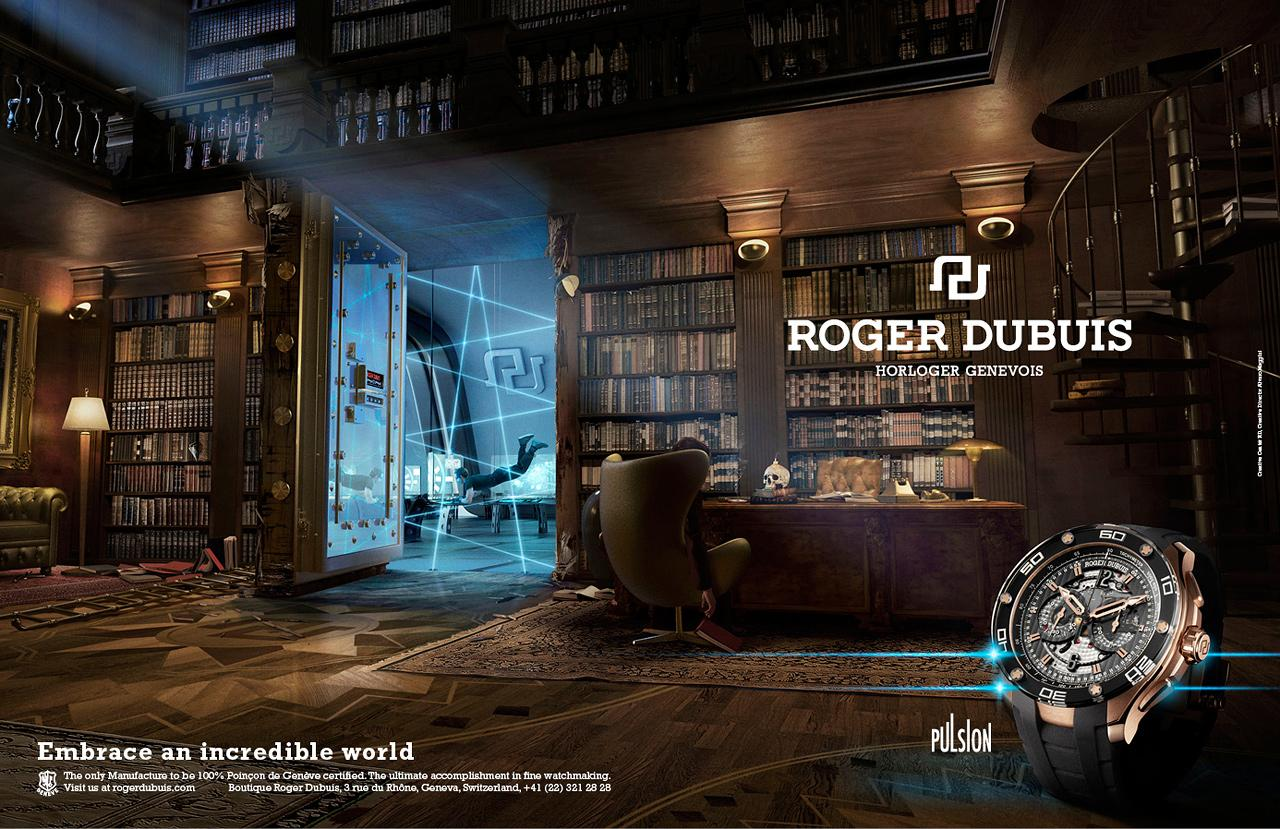 Roger Dubuis Print Ad -  Embrace an incredible world, Pulsion