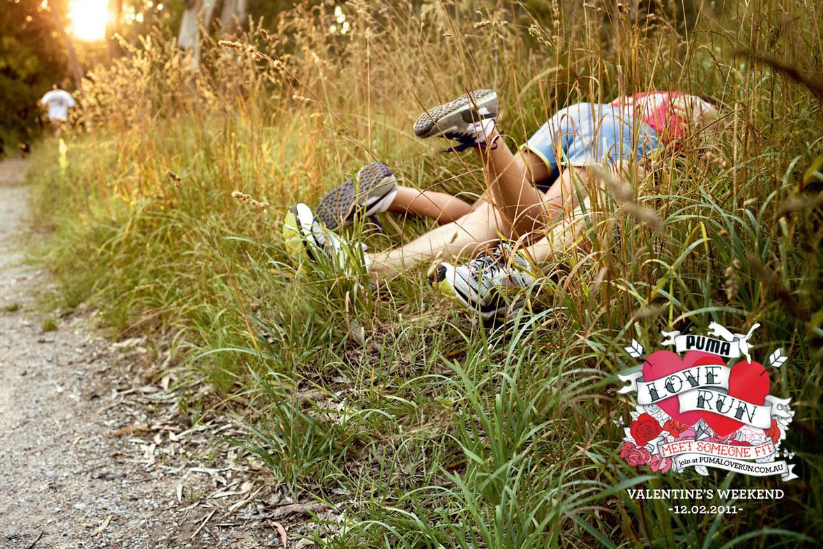 Puma Print Ad -  Love Run Position #1