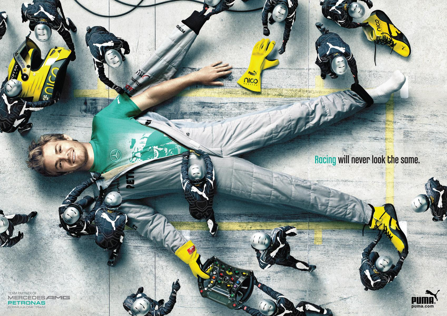 Mercedes Print Ad -  Rosberg