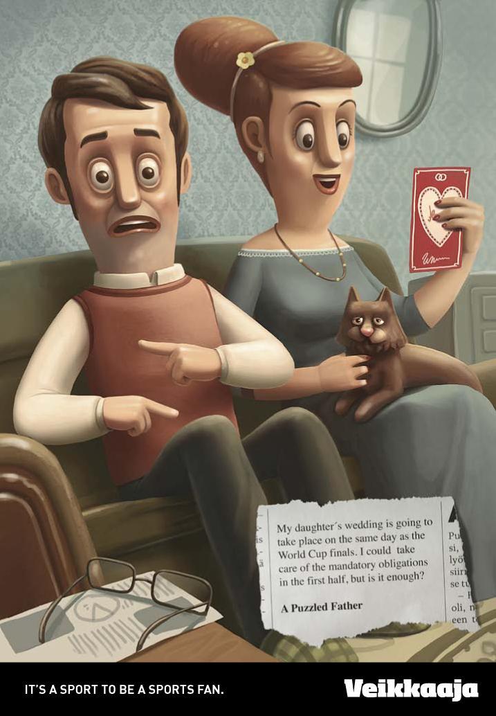 Veikkaaja Print Ad -  Puzzled