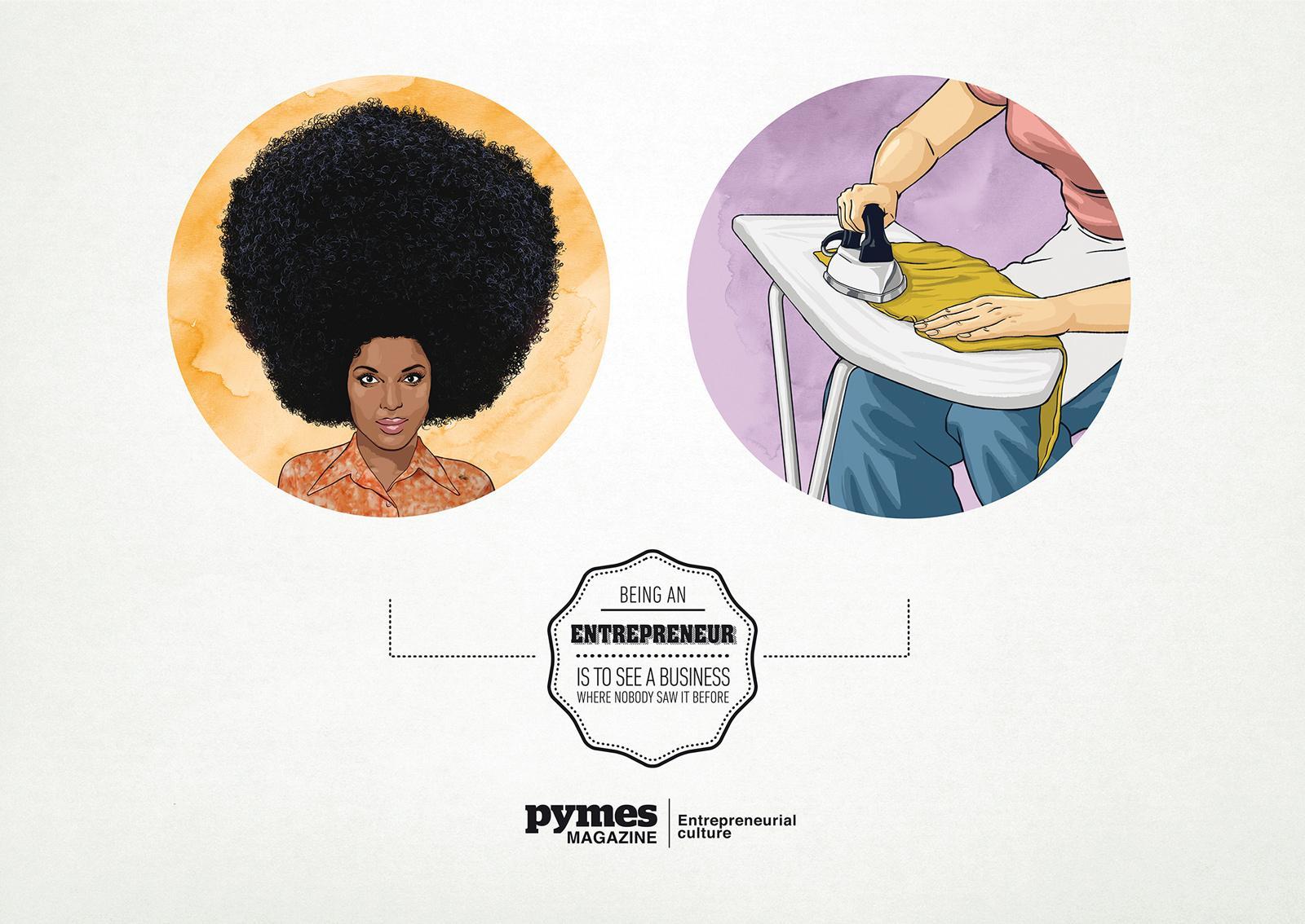 Pymes Magazine Print Ad -  Hair Iron